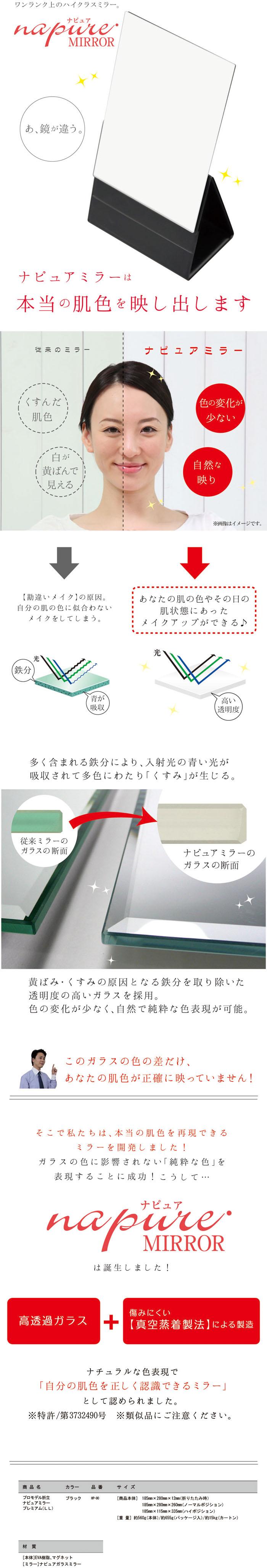 ナピュア折立プレミアムナピュア説明